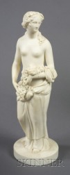 Staffordshire Parian Figure of Autumn