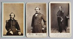 Three Carte-de-visite Photographs of 19th Century Naval Officers