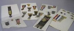 Group of Veteran and Fraternal Order Medals, Badges, Pins, and Tie Tacks