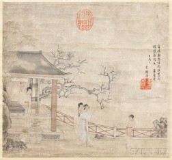 Painting Depicting a Garden Scene