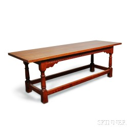 Wallace Nutting Renaissance-style Carved Oak Refectory Table