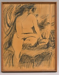 Framed Charcoal Figure Drawing