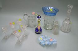 Eleven Assorted Art Glass Table Items