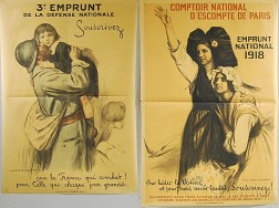 Two Auguste Leroux French WWI Lithograph Posters