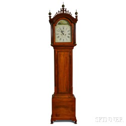 Cherry Tall Clock Attributed to Abel Stowell