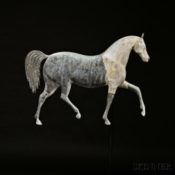 """Cast Zinc and Molded Copper """"Index"""" Horse Weathervane"""