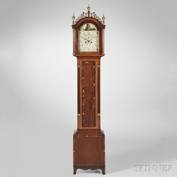 Levi and Abel Hutchins Mahogany Tall Clock