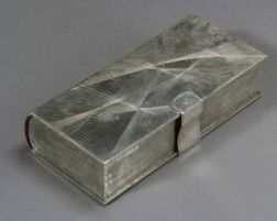 Mexican Sterling Book Form Box