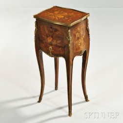 Louis XV-style Marquetry Tulipwood and Kingwood Gueridon