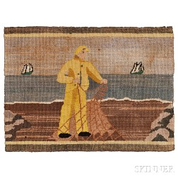 Small Grenfell Fisherman Hooked Mat