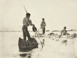 Frank Weston Benson (American, 1862-1951)      Two Canoes