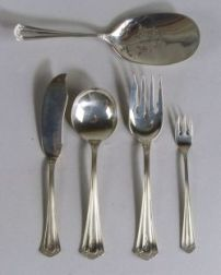 "Whiting Manufacturing Co. Sterling ""Stuart"" Pattern Partial Flatware Service"