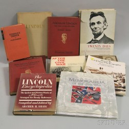 Collection of Books Pertaining to Abraham Lincoln and the Civil War
