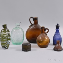 Seven Pieces of Early Blown Glass