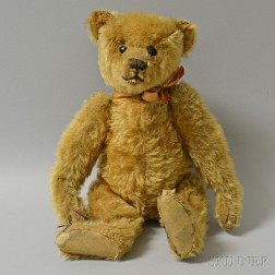 Early Steiff Gold Mohair Teddy Bear