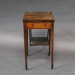 English Inlaid Rosewood Veneer Sewing Stand