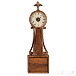 "Chandler & Farley Wood Panel ""Banjo"" Clock"