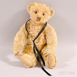 Early Steiff Blonde Mohair Teddy Bear