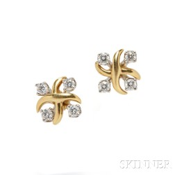 "18kt Gold and Diamond ""Lynn"" Earrings, Schlumberger Studios, Tiffany & Co."