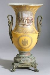 Sevres-type Porcelain and Bronze Mounted Urn