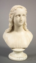 Staffordshire Parian Bust of Hope
