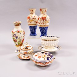 Nine Wedgwood Pearlware Items