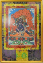 Thangka Fabric Depicting Mahakala