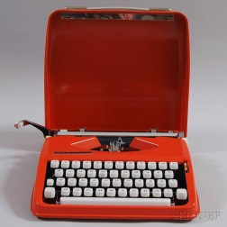 "Russian ""Hermes Rocket"" Cased Typewriter"