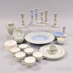 Twenty-eight Wedgwood Embossed Queen's Ware Items.