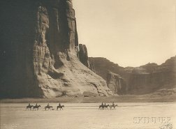 Edward Sheriff Curtis (American, 1868-1952)      Canyon de Chelly
