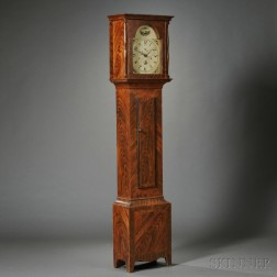 Grain-painted Pine Tall Case Clock