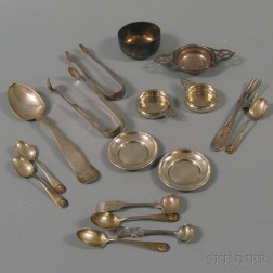 Small Group of Assorted Coin and Sterling Silver Items