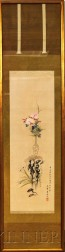 Hanging Scroll Depicting a Still Life with Flowers