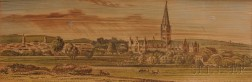 Fore-edge Painting, Prize Book. The Holy Bible