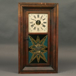 Forestville Manufacturing Co. Mahogany Ogee Clock