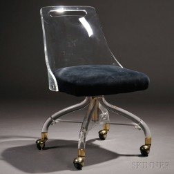 Rolling Chair in the Manner of Charles Hollis Jones