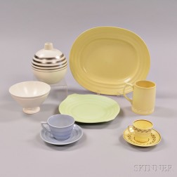 Nine Wedgwood Mostly Matte Items