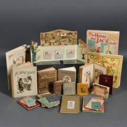 Children's Books, Group of Small-format Illustrated Chapbooks including Greenaway, Caldecott and Others.