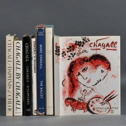 Chagall, Marc (1887-1985) Seven Coffee Table Books, 20th Century.