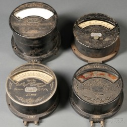 Four 19th Century Weston Electric Instrument Company Meters