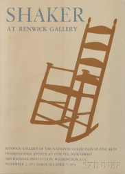 """Shaker at Renwick Gallery"" Exhibition Poster"