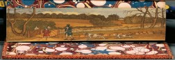 Fore-edge Paintings, Sporting Themes: Fly Fishing; Partridge Shooting; and Double Painting with Trout Fishing and Fly Fishing.