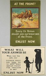 Two British WWI Lithograph Posters