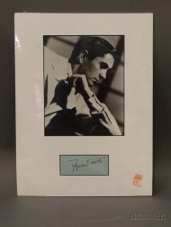 Tyrone Power, Signed Slip of Paper
