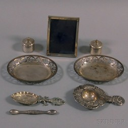 Eight Small Silver Items