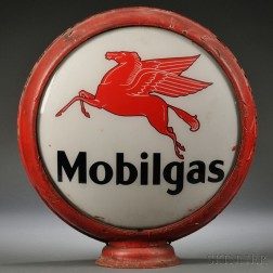 Vintage Mobilgas Gas Pump Globe Sign