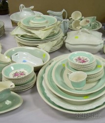 Sixty-nine Piece Johnson Bros. Windsor Ware Partial Dinner Service and Seven Pieces of Ironstone.