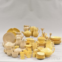 Approximately 120 Wedgwood Drab- and Cane-colored Tableware Items