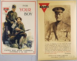 Two U.S. YMCA WWI Lithograph Posters