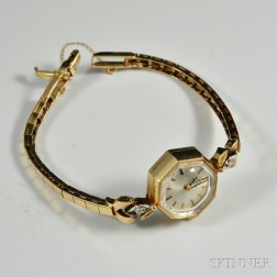 14kt Gold Omega Lady's Wristwatch
